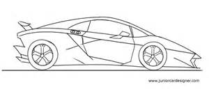 how to draw a lamborghini junior car designer