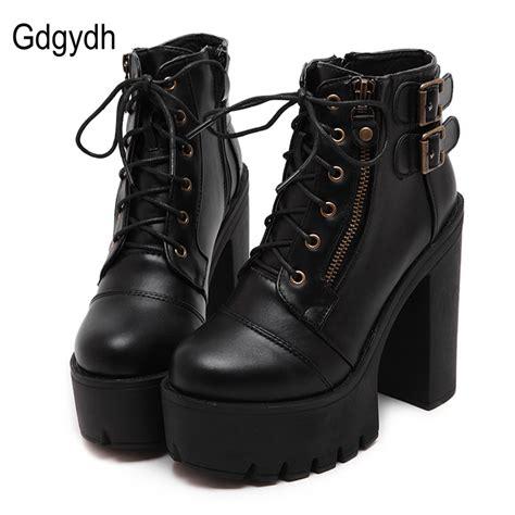 Sale Boots Bkl01 Black gdgydh sale russian shoes black platform martin boots zipper high heels shoes