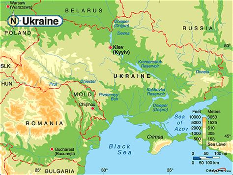 physical map of ukraine ukraine physical map by maps from maps world s