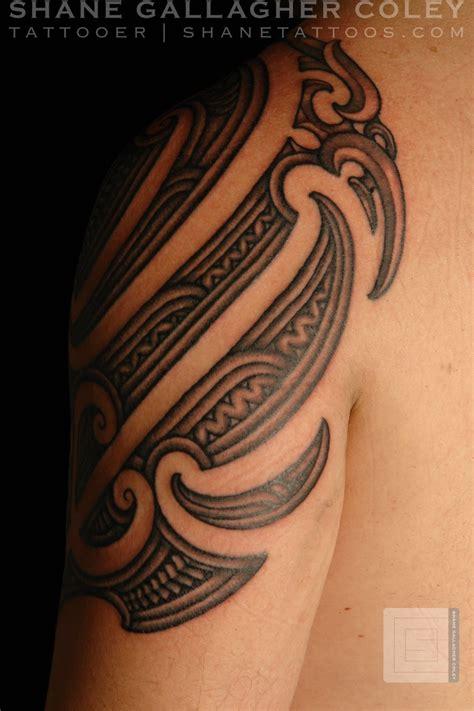 moko tattoo shane tattoos maori shoulder ta moko