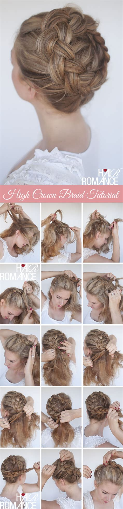 hairstyles braided tutorial new braid tutorial the high braided crown hairstyle