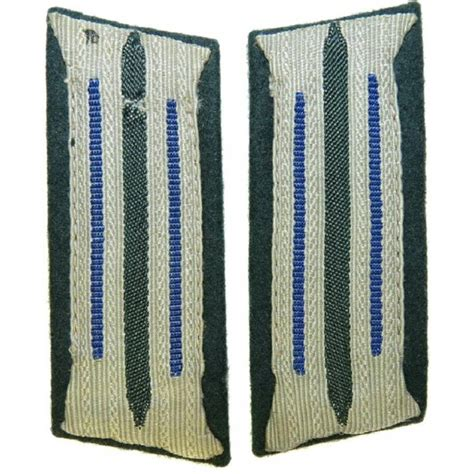 service collar wehrmacht heer sanitater service collar tabs for enlisted personnel and ncos