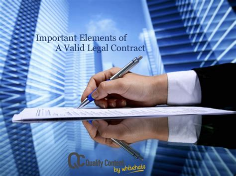 contract important elements important elements of a valid contract and