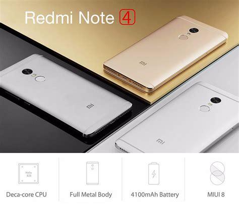 Xiaomi Redmi 4 Prime Silver 332 Rom Global Official xiaomi redmi note 4 fingerprint 5 5 inch 3gb ram 64gb mtk