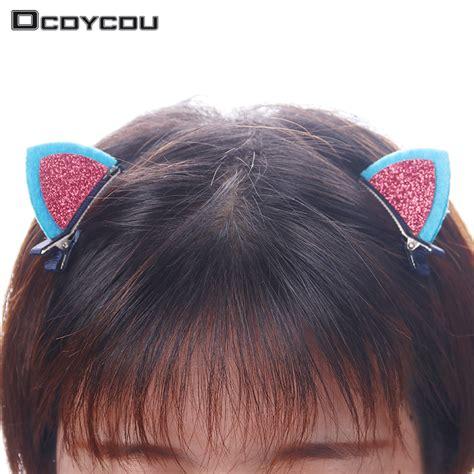 hair accessories to keep hair behind ears 3 pair 6 pcs clips lovely cat ears hairpin children hair