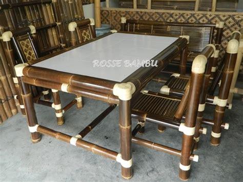 Meja Makan Keramik kerajinan mebel bambu quot rosse bambu quot rosse bambu gentan