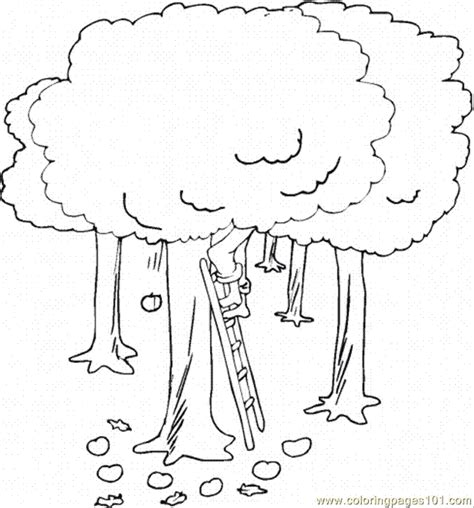 Coloring Pages Apple Tree 4 Natural World Gt Trees Free Apple Tree Coloring Page