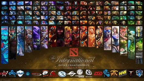 dota 2 ti5 wallpaper the international 5 all heroes teams wallpaper by
