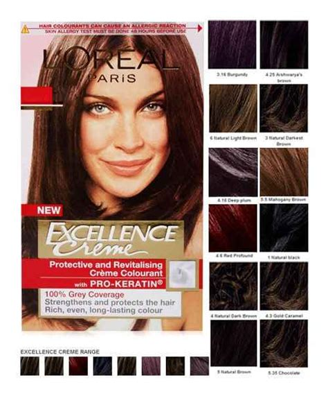 excellence hair color loreal excellence hair color chart india loreal