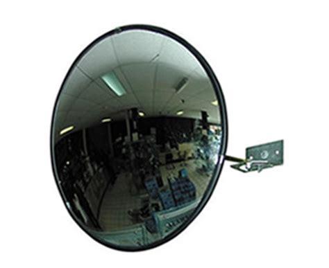 miroir de surveillance en polycarbonate convexe 60 cm fixation par rotule