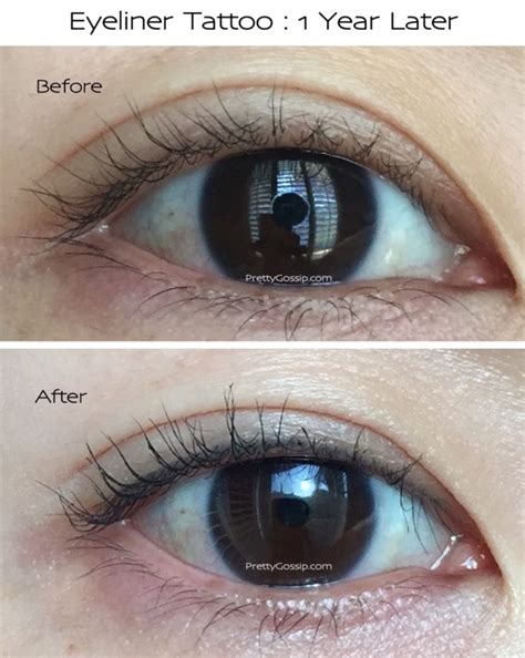 eyeliner tattoos eyeliner not so scary before and after photos