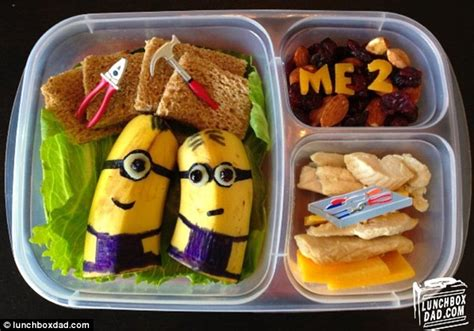 Healthy Snacks Before Bed Lunchbox Dad Creates Edible Lunchbox Masterpieces