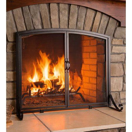wide fireplace screen arched top flat guard fireplace screen with doors large