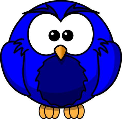 Animasi Burung Hantu Owl Bird blue hoot clip at clker vector clip