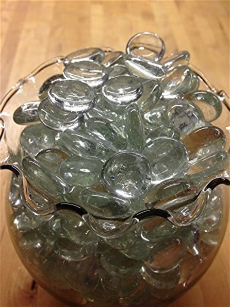 Clear Pebbles For Vases by Dashington Flat Clear Marbles Pebbles 5 Pound Bag For