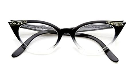 Frame Fashion 9396 Od cateye s eyeglasses or sunglasses vintage inspired fashion black fade frame clear health