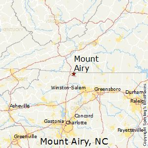 best places to live in mount airy carolina