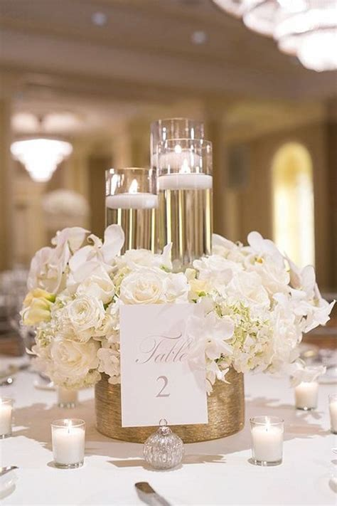 gold and white centerpieces 43 glam gold and white wedding ideas happywedd