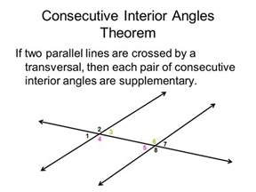 What Does Consecutive Interior by Angles And Parallel Lines Ppt