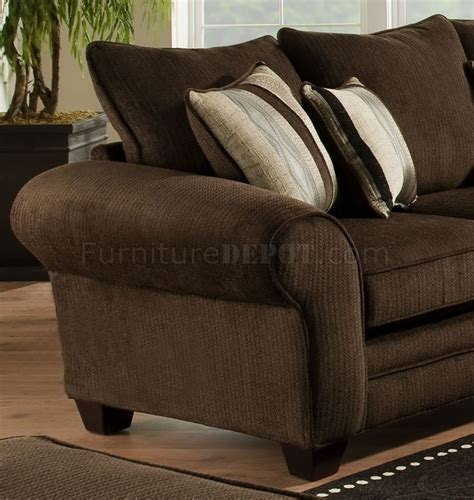 brown fabric sofa set brown fabric casual sofa loveseat set w plush flared arms
