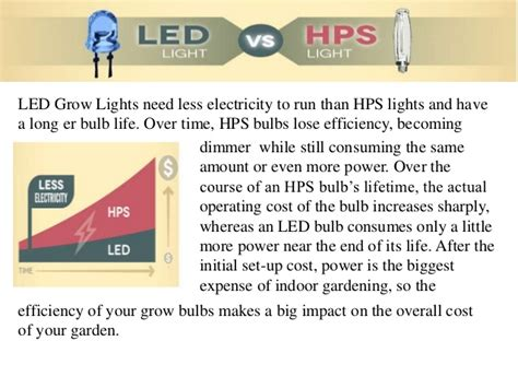 Led Grow Lights Vs Hps by Power Consumption Led Grow Lights Vs Hps Light