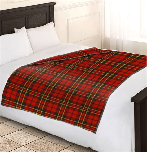 bed check soft warm red check blanket single double king tartan