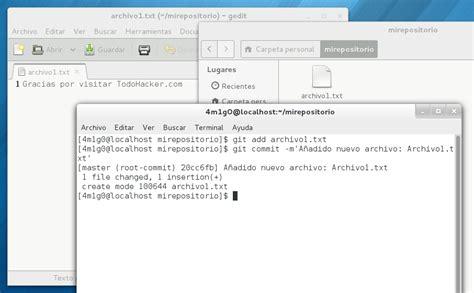 tutorial git commit tutorial git gesti 243 n de versiones introducci 243 n todohacker