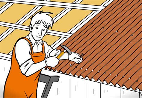 Dach Abdecken Und Neu Eindecken by Dach Decken Mit Wellplatten Ganz Einfach Mit Obi