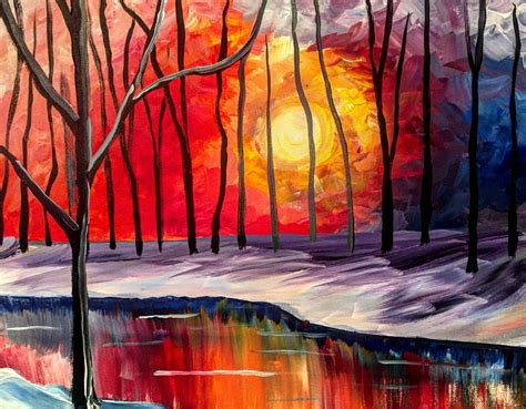 paint nite events near me warm sunset at the boulevard greensburg 01 07 2016 paint