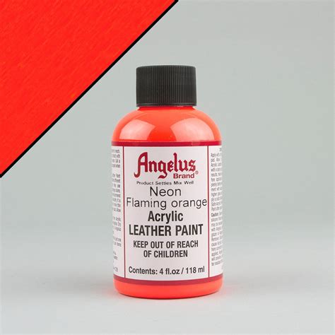 angelus paint neon angelus neon leather paint 4oz flaming orange
