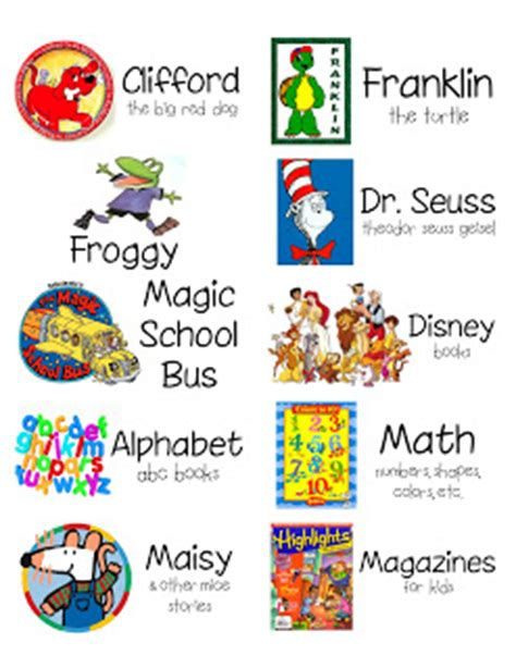 printable library labels kindertastic classroom library baskets and labels