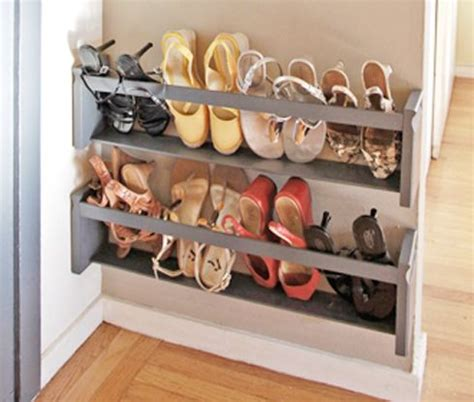 wall shoe rack diy shoe rack for small spaces another diy wall mounted shoe