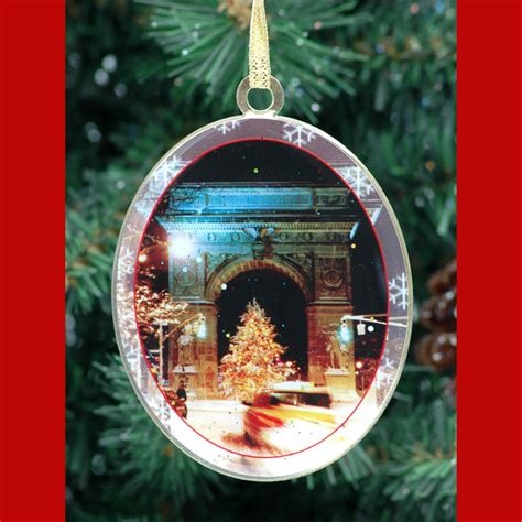 washington square arch christmas tree double sided ornament