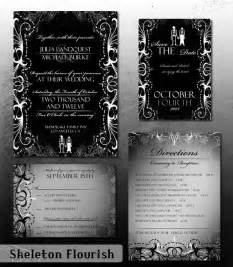 Wording For A Wedding Invitation By Bride And Groom by Gothic Wedding Invitation Halloween Wedding Invite Set