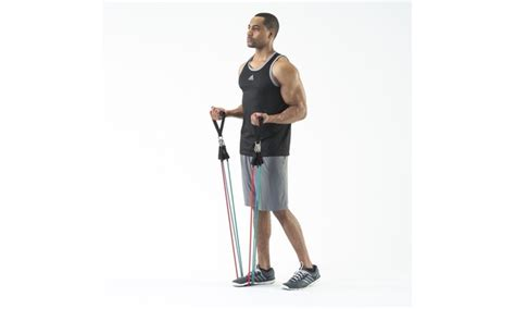 Mr5124 Black black mountain products ultimate resistance band set with starter guide groupon