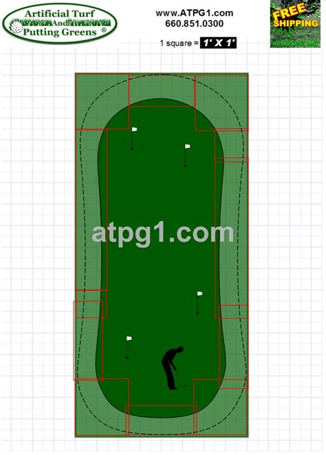 green plans putting green layout