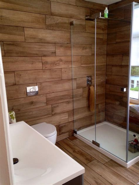 Wood Bathroom Ideas by Wood Tile Shower On Wood Tiles Faux Wood Tiles