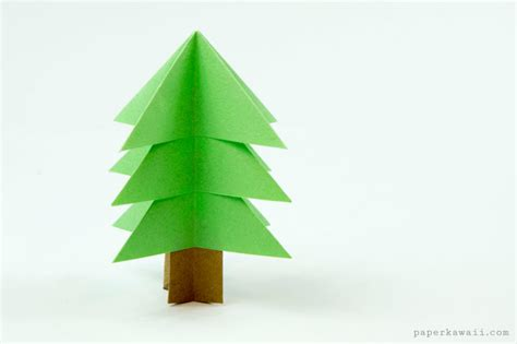 origami paper tree easy origami tree tutorial paper kawaii