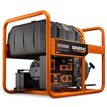 generators generac xd5000e diesel powered portable