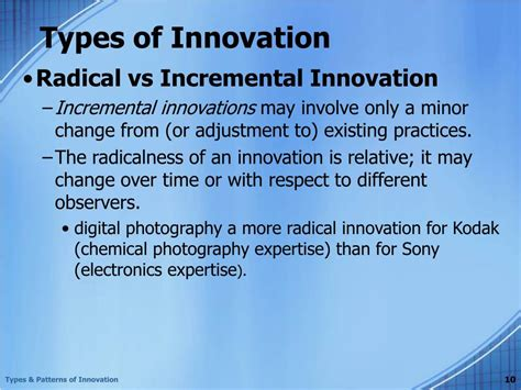 pattern types ppt ppt chapter 3 types and patterns of innovation