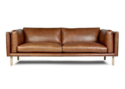 leather couch perth conrad sofa by arthur g modern leather sofa made in