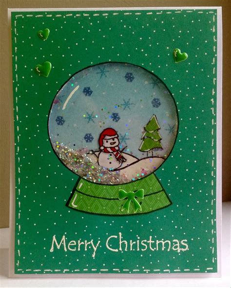 snow globe shaker card - How To Make A Snow Globe Card