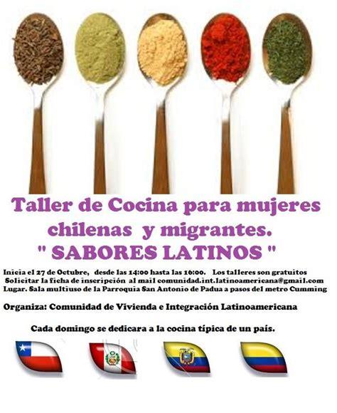 taller cocina sabores taller de cocina sabores latinos revista sur