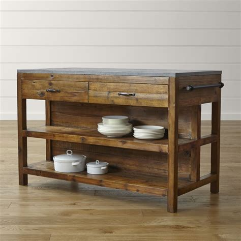 crate and barrel kitchen island bluestone reclaimed wood large kitchen island crate and