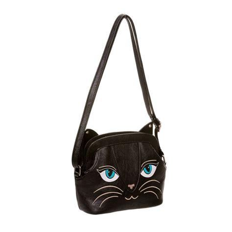 Tas Backpack Bc St042 Unisex Backpack Canvas banned katten kleine schoudertas zwart attitude