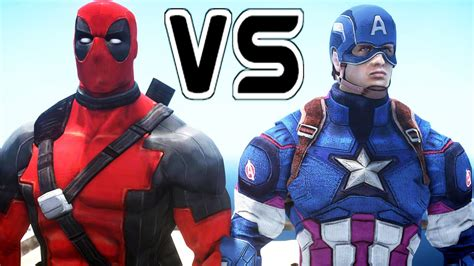 captain america  deadpool epic battle youtube