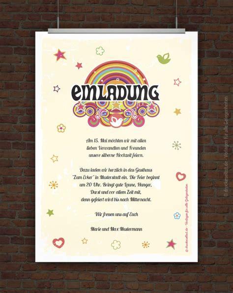 silberhochzeit einladung drucke selbst kostenlose einladung zur silberhochzeit zum