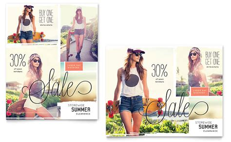 Casual Clothing Sale Poster Template Design Apparel Flyer Templates