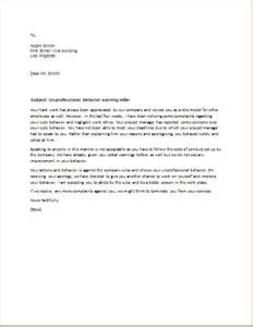 Apology Letter To For Being Unprofessional Warning Letter For Unprofessional Behavior Writeletter2