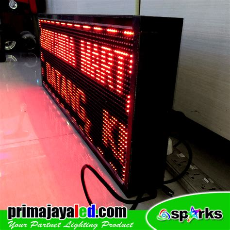 Running Teks Led 160cm Merah running teks led outdoor prima jaya led